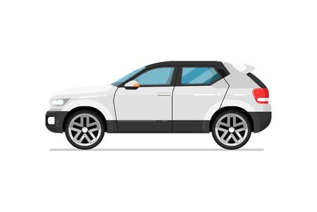 Modern suv car isolated vector icon