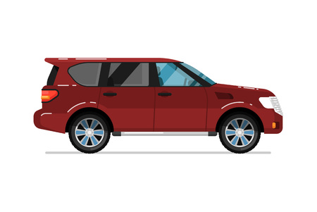 truck: Family suv car isolated vector icon Illustration