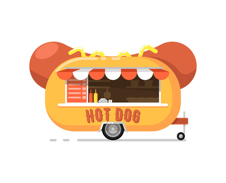 Hot dog outdoor cafe service icon