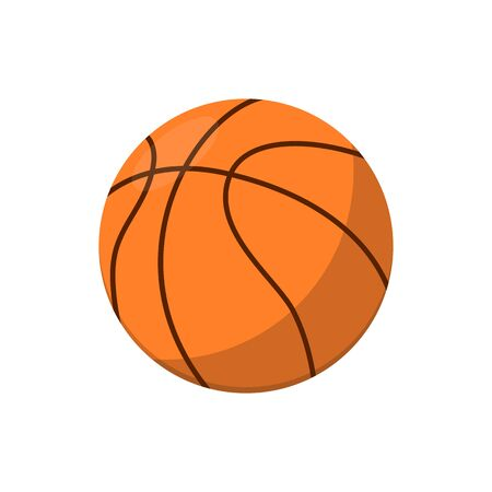 group fitness: Basketball ball isolated vector icon