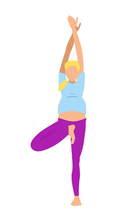 pregnancy exercise: Female yoga excersises isolated vector icon