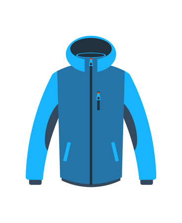 Hiking winter jacket isolated vector icon