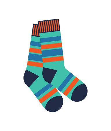 Winter socks isolated vector icon
