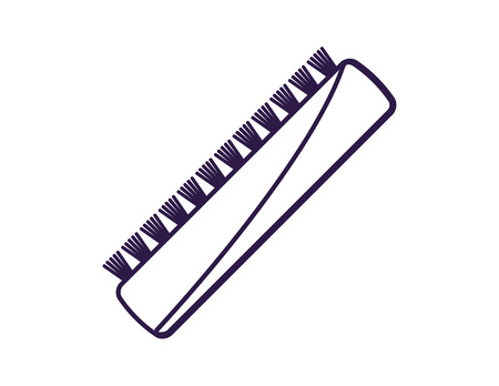 clearing: Brush for cleaning isolated vector icon