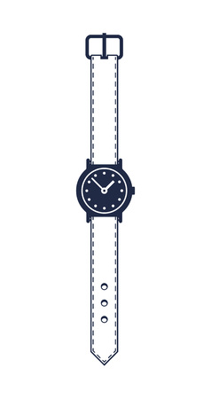 Man wristwatch isolated vector icon Illustration
