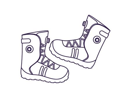 mountaineering: Mountaineering boots isolated vector icon