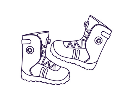 Mountaineering boots isolated vector icon