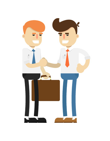 Business meeting concept with smiling men Illustration