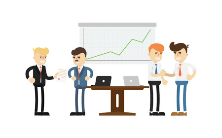 business team: Business conference concept with smiling men