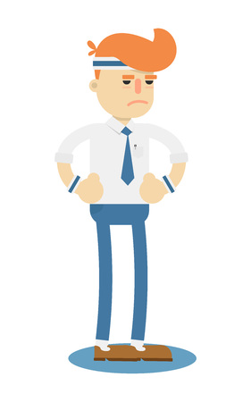 Businessman runner isolated icon. Business project and realization vector illustration in flat design.