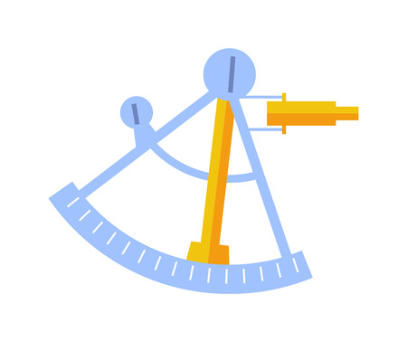 A Sextant tool isolated vector icon.