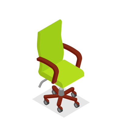unoccupied: Office armchair isometric 3D icon.