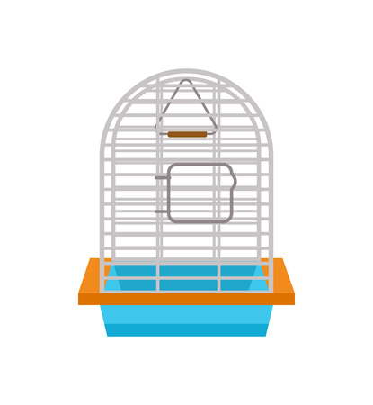 Cage for bird isolated vector icon Illustration