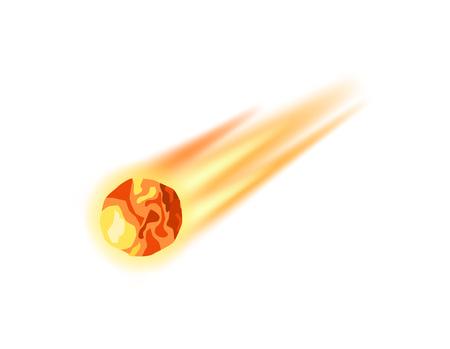 Meteorite apocalypse isolated vector icon