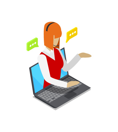 Online shopping isometric 3D icon. Illustration