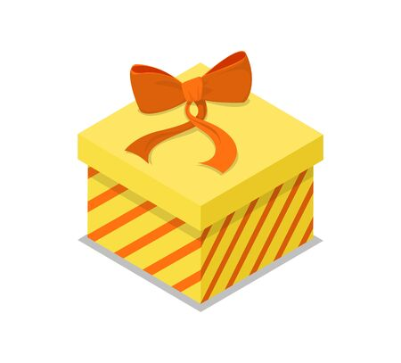Closed gift box isometric 3D icon