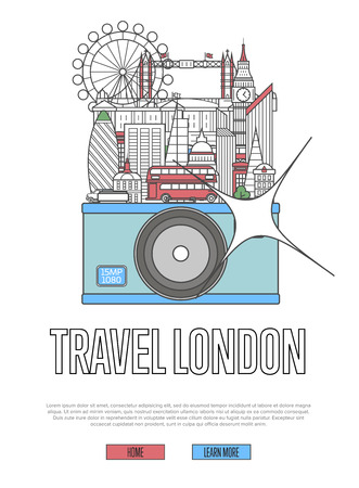Travel London poster with camera