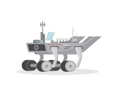 Space machine isolated vector icon Illustration