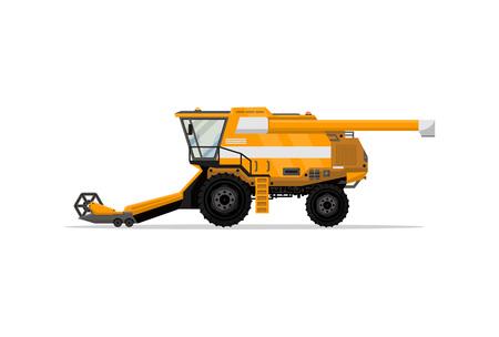 Heavy combine harvester isolated icon