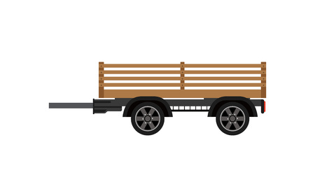Agricultural wooden trailer isolated icon