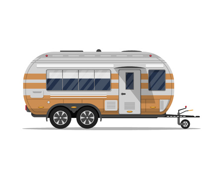 Big modern travel trailer isolated icon