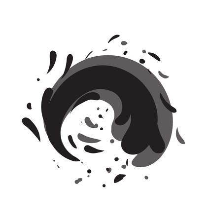 Icona di vettore isolata rullo di acqua di marea