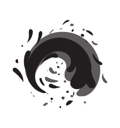Tide water roller isolated vector icon Illustration