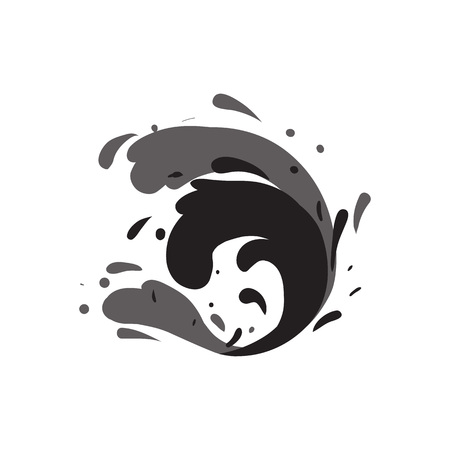 Stormy sea wave isolated vector icon