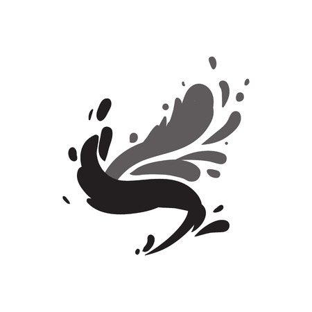 Water wave splash isolated vector icon Фото со стока - 95615099