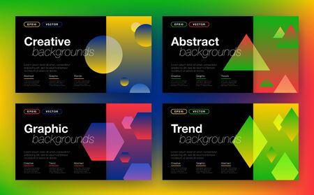 Geometric background with abstract shapes Ilustração