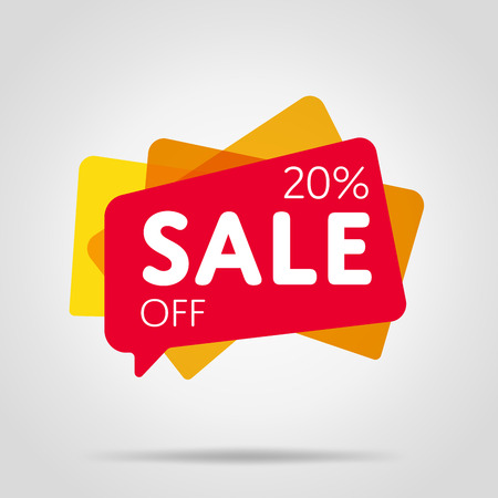 Special offer sale red tag isolated Stock Illustratie
