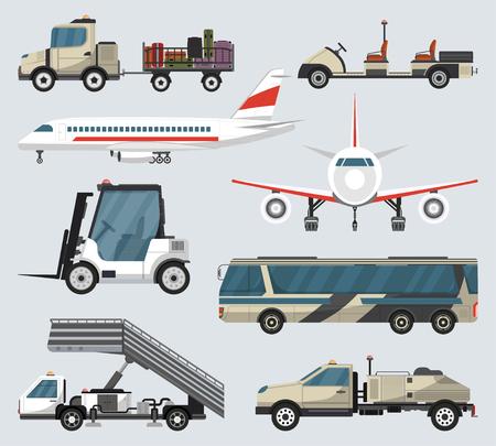Passenger airport ground technics isolated set