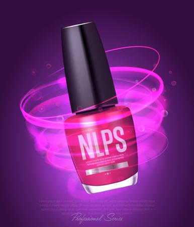 Realistic nail polish makeup product Stock Photo