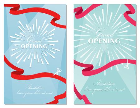 Grand opening banner design illustration Stock Photo