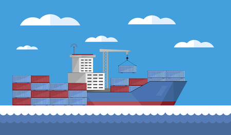 Cargo vessel icon.