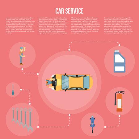 Car shop infographics Ilustração