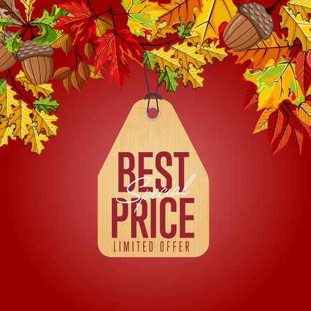 Best special price label. Limited offer. Illustration