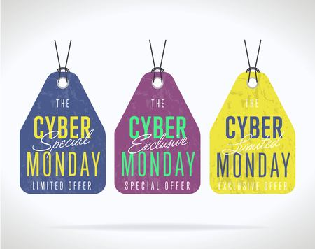 Cyber Monday sale sticker isolated