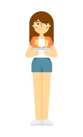 Girl holding radio remote controler