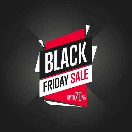 Black Friday sale sticker vector isolated Ilustração