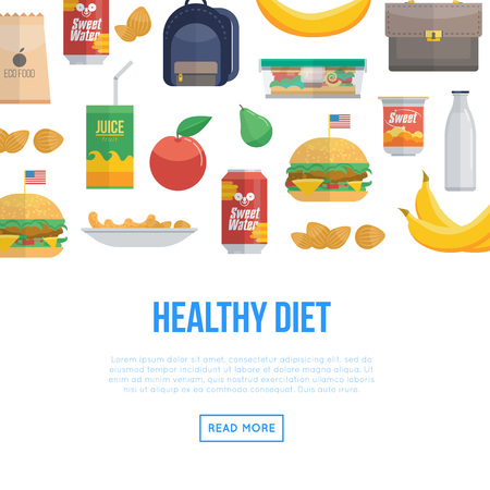 Healthy diet and different food