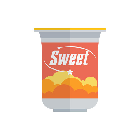 Pack of Sweet yogurt Illustration