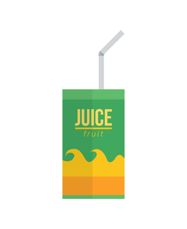 Juice pack with straw