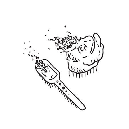 Tea sack and spoon