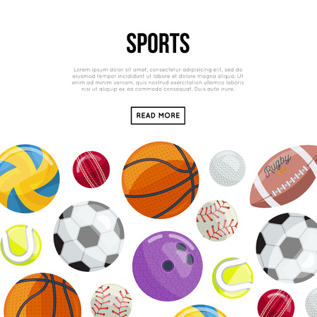 Colorful balls for different sports