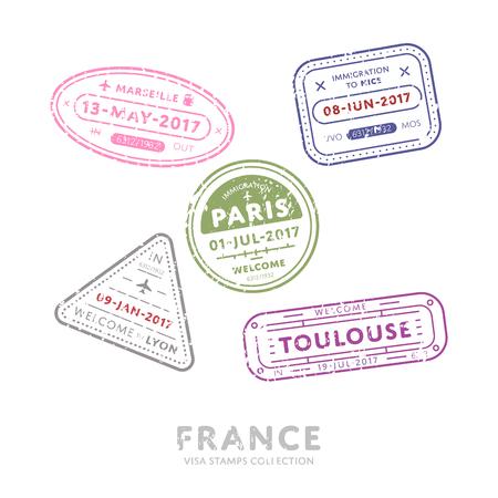 International travel  stamps.