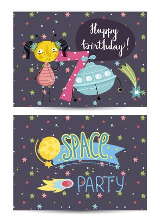 Invitation on Children Costumed Birthday Party