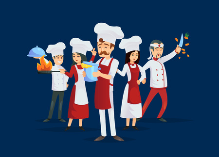 Professional kitchen staff recruitment concept