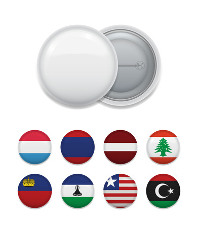 Round badge templates with flags