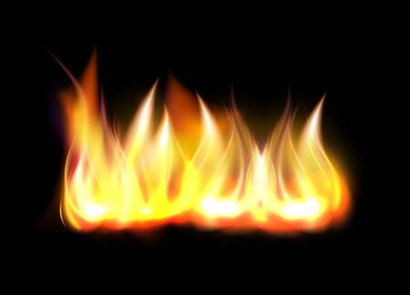 Realistic fire flame element